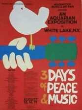 Woodstock White Lake  NY Lithograph Rock Poster Limited 3 Days Of Music Classic