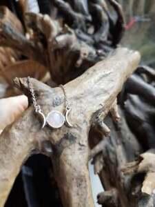 Triple Moon Gemstone Necklace,Pendant,Symbol,Spiritual,Moon Goddess Wiccan gift