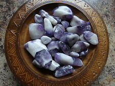 AMETHYST, CHEVRON 1/4 Lb Gemstone Specimens Tumbled Wiccan Pagan Metaphysical