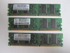 """3 banchi memoria RAM da 128MB (Totali 384MB) marca """"Mosel vitelic"""" pc2700u"""