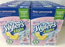 12 Wylers Light Pink Lemonade Sugar Free Drink Mix Bottle Water 120 Single Stick