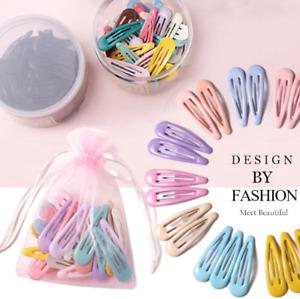 10/20/30/40 New Women Girls Cute Colorful Waterdrop Shape Hairpins Sweet Hair
