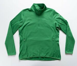 Nike Golf Quarter Zip Women's Large Therma-Fit Pullover Green Activewear