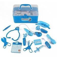 Medical Box Blue Doctor Nurse Medical Kit Playset for Kids - Pretend Play Too...