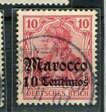GERMAN COLONIES; MAROKKO early 1905 Wmk. issue used 10c. value