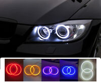 COB LED Headlight Rings Halo Angel Eyes Xenon Universal High Power Bright