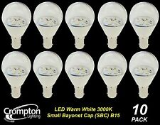 10 x Quality LED 4W Clear Light Globes / Bulbs Small Bayonet B15 Warm White