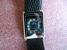 CONCORD by MOVADO ladies black leather strap watch