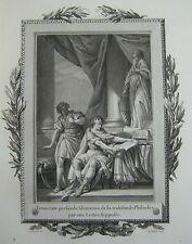 Gravur 18éme (1773) Extrahiert Telemach Sohn D Ulysse Fenelon Buch XIII / I