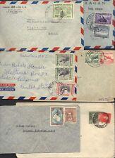 LATIN AMERICA 1930-50s ARGENTINA, CHILE, COSTA RICA, ECUADOR, BOLIVIA 6 COVER TO