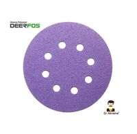 "125mm Ceramic Sanding Discs 5"" Sandpaper Pads 8 HOLE for Hard Wood Steel Stone"