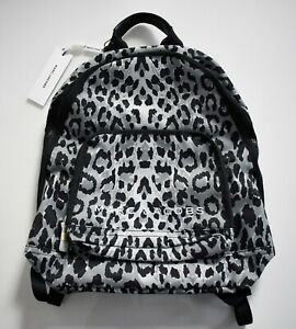 $250 New Authentic MARC JACOBS Gray LEOPARD All Star Printed Backpack Rucksack