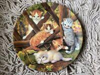 Kittens KAHLA Jurgen Scholz German Cat Kitty BRADFORD EXCHANGE Plate