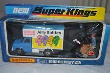 MATCHBOX SUPERKINGS K-29 Ford Transit furgone in Bassett's Jelly Babies
