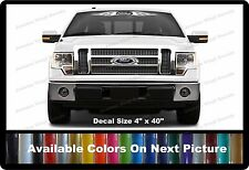 "Ford Flames Front Windshield Banner Decal Fits Ford Trucks,Cars, SUV's 4"" x 40"""