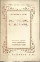 DAL GIORNO E DALLE ODI - GIUSEPPE PARINI - 1937