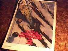 Texas Chainsaw Massacre 2 Advance Rolled 27X41 Movie Poster '86 Leatherface
