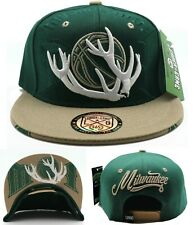 Milwaukee New Leader Antlers Ice Cold Bucks Colors Green Era Snapback Hat Cap