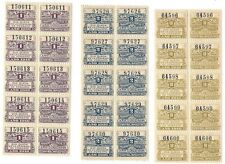 ARGENTINA 1916 Santa Fe Revenues Fiscals in MNH strips of 5 pairs (50)