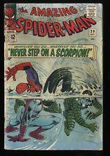 Amazing Spider-Man #29 FA/GD 1.5 2nd Scorpion! Marvel Comics Spiderman