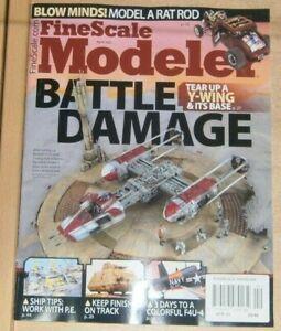 Fine Scale Modeler magazine Apr 2021 Battle Damage: Tear up a Y-Wing & it's base