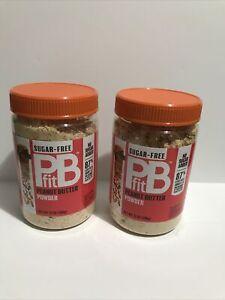 2 Pack BetterBody Foods PBfit Sugar-Free All-Natural Peanut Butter Powder 13oz