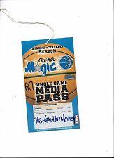 NBA: Orlando Magic-New York Knicks 07.01.2000, stampa Ticket BASKET