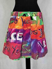 VERSACE COUTURE VINTAGE '80 Gonna Donna Cotone Optical Cotton Skirt Sz.S - 42