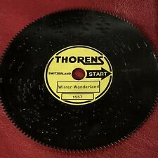 Vintage Original Winter Wonderland Thorens 4.5� Christmas Music Box Disc #1557