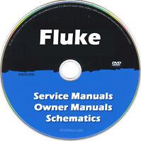 Fluke Repair & Service Owner Schematics PDFs (>500)  manuals on DVD Huge Set