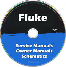 Fluke Repair & Service Owner Schematics PDFs (>500)  manuals on DVD Huge Set
