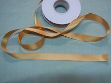 Ribbon Satin  Old Gold - 16mm x 22 metres