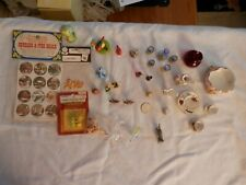 Vintage Lot approx. 41 items of dollhouse miniatures In TWO pictures and more