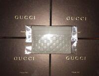 Gucci Signature Leather Card Case - Grey