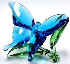 BUTTERFLY ON LEAVES - BLUE GREEN LEAF 2016 SWAROVSKI CRYSTAL  5136834