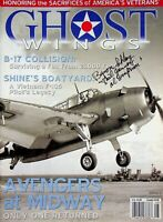 Vtg Ghost Wings Magazine Issue #8 B-17 Collision  Avengers at Midway m347