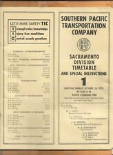 SOUTHERN PACIFIC COMPANY TIMETABLE 1973