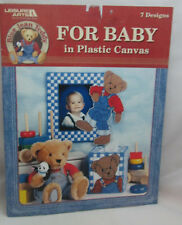 Leisure Arts Blue Jean Teddy For Baby In Plastic Canvas Patterns