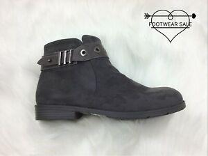 Footwear Sale Women's Flat Anckle Boots Ladies Suede Buckle Zip Winter Shoes