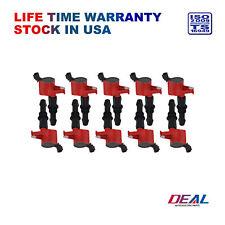 Red Ignition Coil Set of 10 For Ford Lincoln Mercury 4.6L 5.4L V8 6.8L V10 DG511
