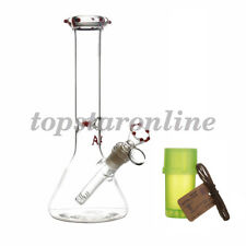 10 inches Clear Glass Beaker Water Pipe Bubbler Bong Hookah Ice Catcher Filter