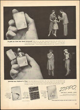 1954 Vintage ad for Zippo Lighters`photo retro fashion dress Golf   081517