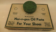 Vtg NOS Nor-V-Gen Oil Paste Tin Shoe/Boot Polish Norwegian Leather Waterproofing