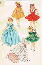 """4098 Vintage Slender Doll Pattern - Size 15"""" - Korean War 1952"""