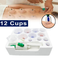 12 Cups Medical Chinese Vacuum Cupping Healthy Body Suction Therapy Massage Set