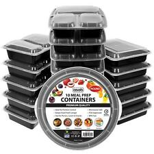 More details for meal prep food containers stack microwavable bpa free plastic lunch box lid 10pk