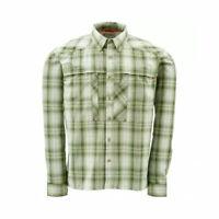 Simms Closeout Kenai Long Sleeve Shirt Dill Plaid, Select Sizes