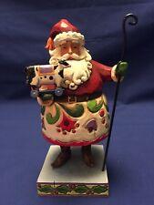 Jim Shore, Holiday Fun, Santa With Cow Figurine (4010850)