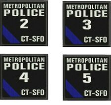 Metropolitan Police 2-5 embroidery patches 4x4 hook
