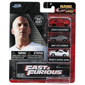 JADA 32482 NANO FAST AND FURIOUS 3 CAR SET